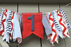 Nautical First Birthday Party Banner Beach by AmpersandGO on Etsy