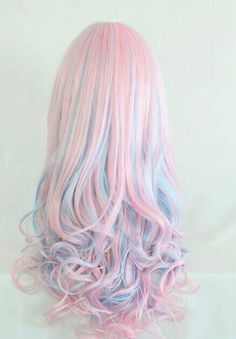50 Sweeet Cotton Candy Hair Ideas That Are As Aye-pleasing As Can Be - rainbow hair - Hair Designs Cute Hair Colors, Bright Hair Colors, Cool Hair Color, Colorful Hair, Pink Color, Pastel Colors, Pastel Hair Colors, Pastels, Multicolored Hair