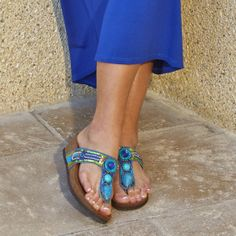 Transport your feet to a tropical island and glisten in the sun in these eye catching jeweled sandals. Rialto Shoes Bara Blue Multicolored Sandal Rialto https://www.rialtoshoes.com/rialto-by-white-mountain-shoes-shop-all-styles/rialto-by-white-mountain-shoes-wedges-and-sandals/rialto-shoes-bara-blue-multicolored-sandal.html