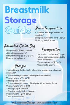 How to Safely Store Breastmilk - Super Healthy Kids