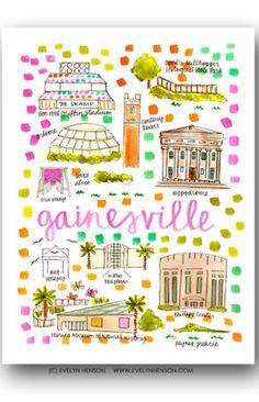 Love this Gainesville print!!