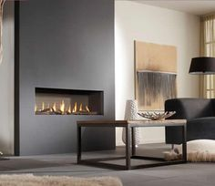 Platonic Fireplaces - Contemporary modern fireplaces.