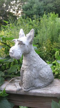 Scottish Terrier Dog Statue with Holiday Garland Medium Mites On Dogs, Dog Training Bells, Dog Clicker Training, Positive Dog Training, Horses And Dogs, Guide Dog, Dog Barking, Terrier Dogs, Cute Animals