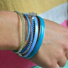 DIY Mini braided bead bracelet.
