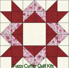 Scrappy Fabric Diamond Star Easy Pre-Cut Patchwork Quilt Blocks Top Kit: