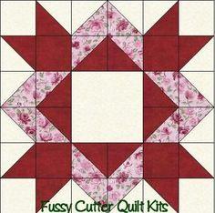Scrappy Fabric Diamond Star Easy Pre-Cut Patchwork Quilt Blocks Top Kit: