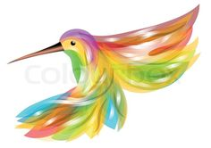 Stock vector of 'hummingbird. abstract bird isolated on white background'