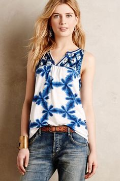 Morning Glory Tank - anthropologie.com  Need all the colors