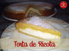 Tarta de Requesón o Torta de Ricota típica de Argentina.