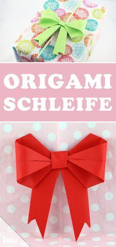 Kostenlose Anleitung - Origami Schleife falten - Talu.de