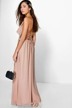 Adelin Ruffle Strappy Maxi Dress