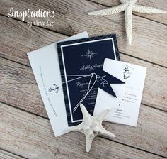Nautical Wedding Invitations, Navy and White Wedding Invitations Nautical Wedding Invitations, Unique Invitations, Addressing Envelopes, Ink Color, Blue Wedding, All Design, White Envelopes, Card Stock, Destination Wedding