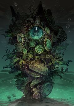 Steampunk Tendencies — Illustrations by DemizuPosuka