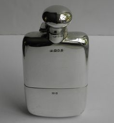 Antique Silver hip flask.