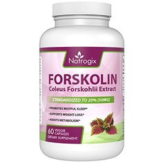 Pure Forskolin Extract 60 Capsules (Best Coleus Forskohlii on the Market) - Highest Grade Weight Loss Supplements for Women & Men - Standardized At - Third Party Lab Tested Supplements For Women, Weight Loss Supplements, Weight Loss For Men, Weight Loss Tips, Pcos, Weight Loss Program, Metabolism, Health And Beauty, Veggies