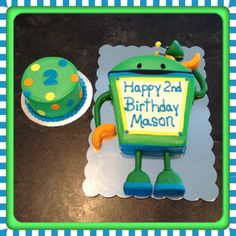 Bot birthday cake an smash cake. Team umizoomi party