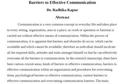 This is a very long read on the differences between barriers and details on how to produce   and obtain skills in effective communication.