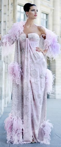 Lavender and silver gown