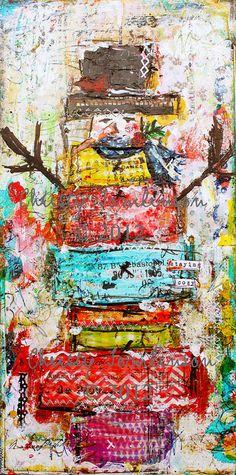 I like My Sweaters Mr Snowmen Mixed Media by ChristyTomlinson