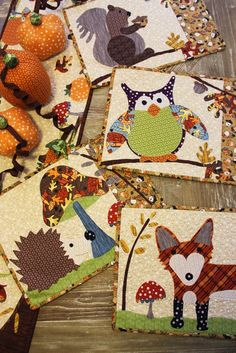 Jennifer Jangles Blog: A Walk in The Woods Quilt and Projects - cute idea for making placemats, a mini quilt project