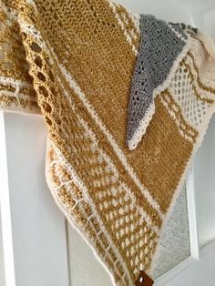 Mustard Hotel of bees shawl crochet project shared on the LoveCrochet COmmunity