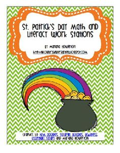 St. Patrick's Day Math and Literacy Work Stations by Lil' Country Kindergarten
