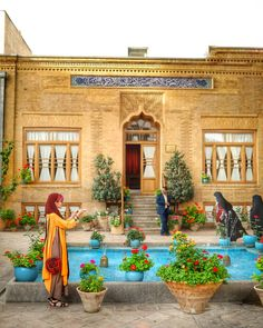 Image may contain: 2 people, plant and outdoor Persian Architecture, Architecture Sketchbook, Beautiful Sites, Beautiful Places, Persian Decor, A Utopia, Persian People, Persian Garden, Iranian Women Fashion