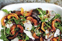 Roasted Acorn and Delicata Squash Salad
