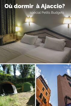 Trois options d'hôtels et de campings petits budgets et confortable à Ajaccio, Corse