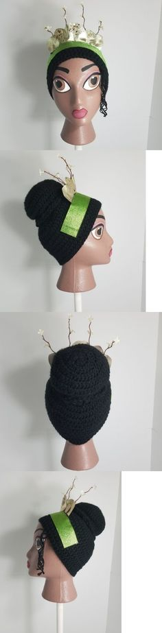 Hats 15630: Handmade Crochet Disney Tiana Inspired Wig Beanie With Handpainted Head -> BUY IT NOW ONLY: $35 on eBay!