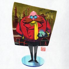 "The Good Doctor (Dr. ""Eggman"" Robotnik - Sonic the Hedgehog) by Nuri Durr"