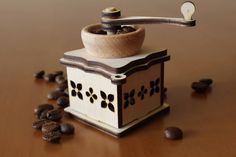 Christmas tree decoration Coffee Mill Lasercut by RedColibriWood
