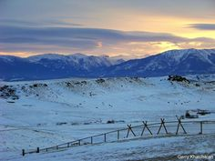 Montana - random, but I really want to have a snowy winter just once here!