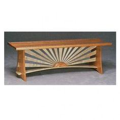 Very comfortable bench with slightly curved seat. Materials used are cherry and curly maple. This bench is the… Mirror Jewellery Cabinet, Grand Entrance, Fine Furniture, Entryway Bench, Small Spaces, Living Room, Table, House, Fairy