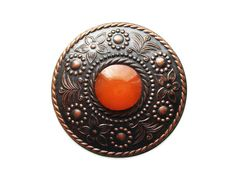Amber Eye Metal Brooch From 1962 by Retransmission on Etsy