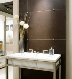 Bathroom Leather Wall