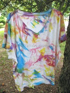 Fabric Painted Tie Dye Shirts. This is a really cool tie dye pattern.