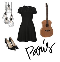 """Café singer"" by almutweety on Polyvore featuring moda, Valentino y Manolo Blahnik"