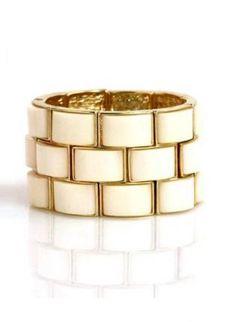 Ivory brick bracelet