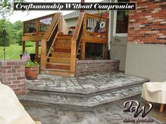 Stamped Concrete by DW Elite Decks in Olathe, Kansas  Call today at: 913-782-7575  email us at: dw@dwdecks.com