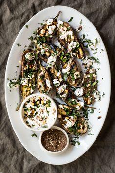 Grilled Eggplant with Za'atar & Yogurt