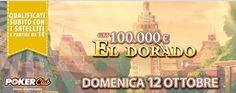 Eldorado 100mila euro: 300 ticket in palio, classifica da 1.000 euro su PokerClub e tanti sat disponibili