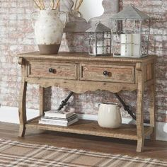 Rustic Sofa Tables, Sofa Table Decor, Entryway Tables, Entryway Decor, Coffee Tables, Pine Table, Wood Table, Living Room Furniture, Home Furniture