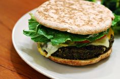 Vegetarian Black Bean Burgers: Replace the bread crumbs with cooked brown rice and skip the cheese... (I add guac!)