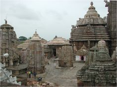 The Lingaraj Temple courtyard