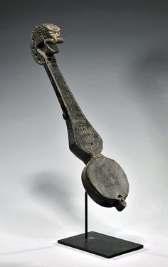 sugudu, Tibet, ca. 18th century CE. An impressive musical instrument from ancient Tibet with wonderful provenance. Instruments like this example would have been used for traditional rituals and meditative ceremonies.
