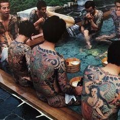 "Onsen time! From ""Tattoo of Horicho"" #japanesecollective #japanesetattoo #irezumi #japan #tattoo #gaman #monmon #horimono #takeoverbyryudaibori  Takeover by @stateofgracetaki"