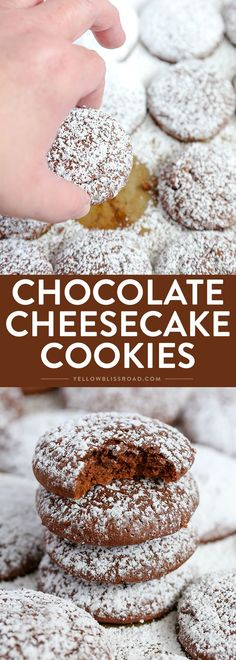 Your new favorite cookie! These Chocolate Cheesecake Cookies are super creamy and tender and melt in your mouth delicious! via @yellowblissroad