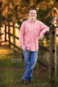 Houston Senior pictures with split rail fence, senior boy pictures, country senior guy, golf senior pictures, Holly Davis Seniors | The Woodlands, Texas