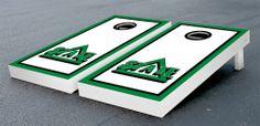Our Delta State University Statesmen Cornhole Game Set Border Wooden. Get your custom set at victorytailgate.com